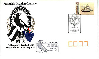 1992 Collimgwood Centenary Cover