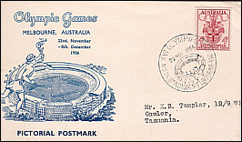 1956 Pictorial PM Olympic Stadium