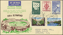 1956 Pictorial Olympic Stadium