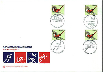 1982 Commonwealth Games Cover