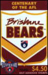 Front of 1996 Brisbane Bears Booklet