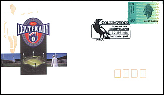 1996 Collimgwood Centenary Cover