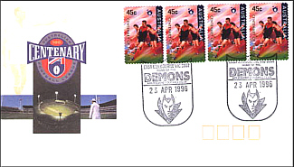 1996 Melbourne AFL Centenary Cover