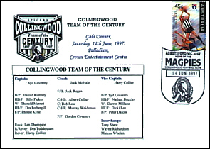 1997 Collingwood Team of Century Cover