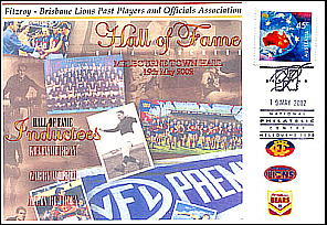 Fitzroy Brisbane Lions 2002 Hall of Fame Cover