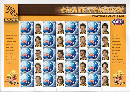 2003 Hawthorn P stamps
