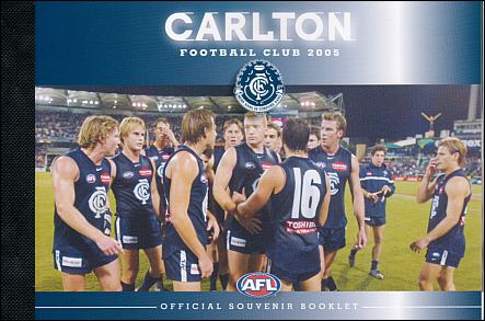 2005Carlton Blues Personalised Stamp Booklet