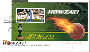 2007 Ashes Victory Miniature Sheet